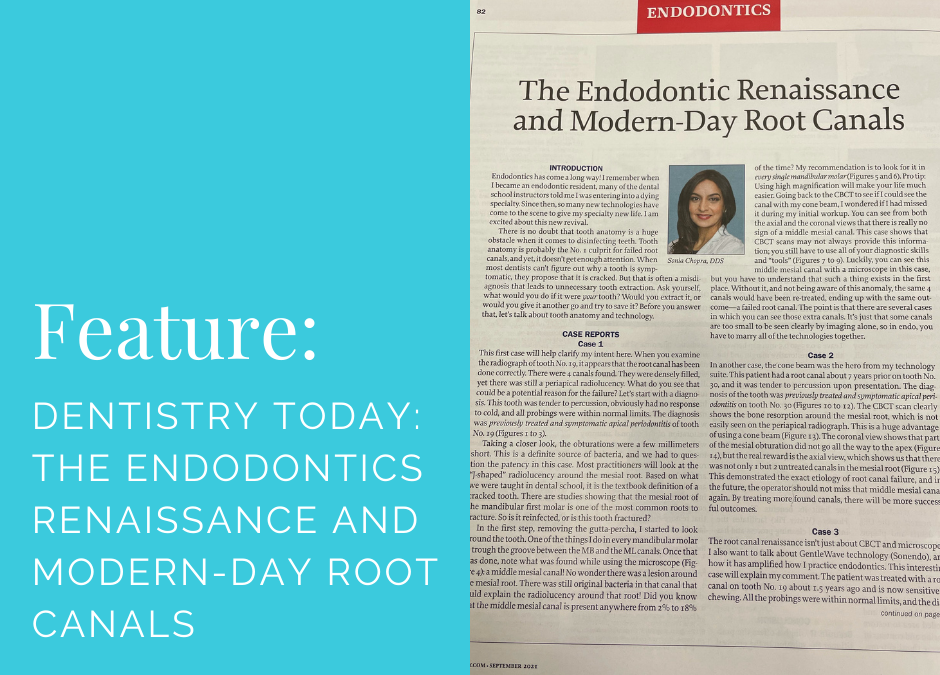 Dentistry Today: The Endodontics Renaissance and Modern-Day Root Canals
